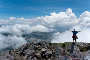 Daša na vrchole vulkána Santa Maria 3 772 mnm