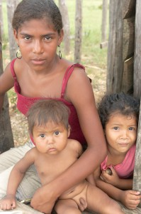 Miskitské deti v RAAN, Nicaragua