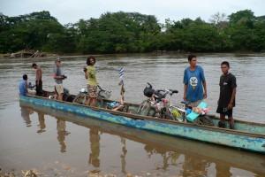 Hraničná rieka Rio Coco, Honduras / Nikaragua