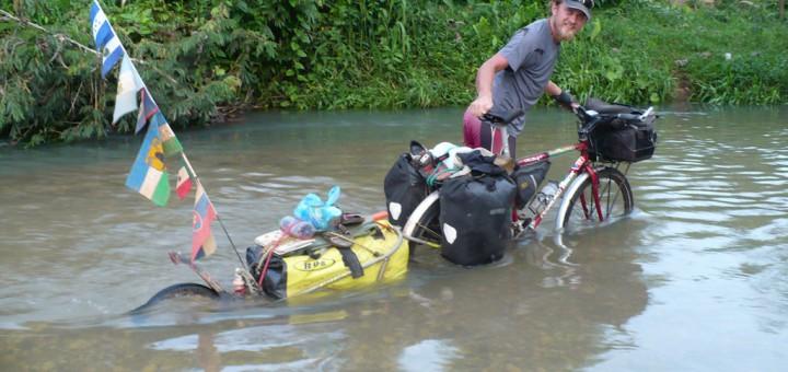 Prechod rieky pred Waspanom, Nikaragua